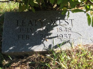 Leaty West Headstone