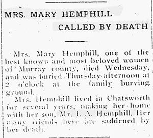 McEntire Hemphill genealogy