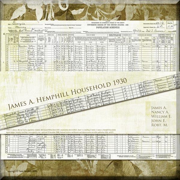 Hemphill Roberts genealogy