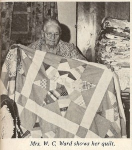 Mrs. N. C. Ward Makes Quilts