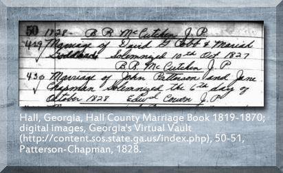 Patterson Chapman genealogy