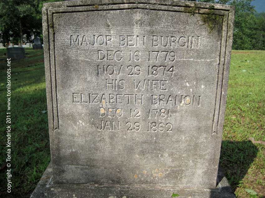 Major Ben Burgin & Elizabeth Branon