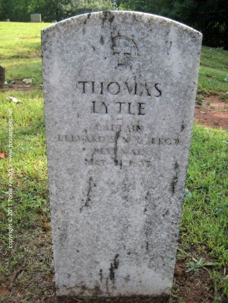 Captain Thomas Lytle Headstone