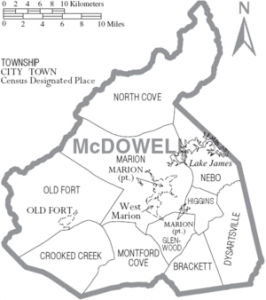 McDowell County map