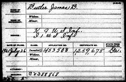 James B. Butler Pension