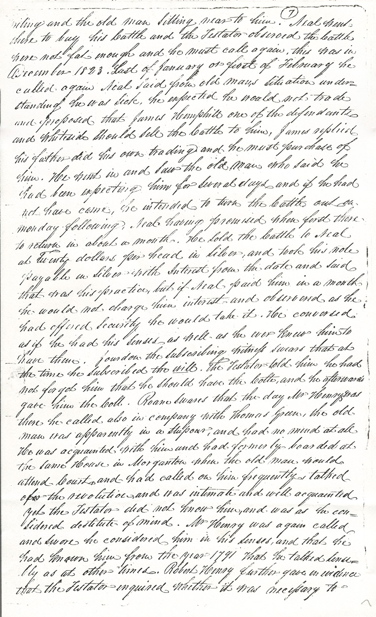 Captain Thomas Hemphill's Will p. 7