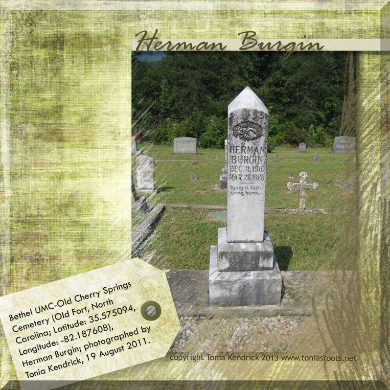 Eula Herman Burgin headstone