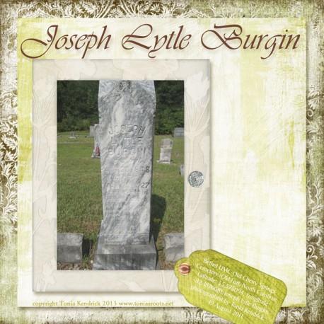 Joseph Lytle Burgin headstone