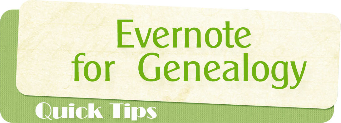 Evernote-Genealogy
