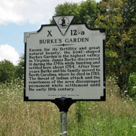 Burke's Garden Historical Marker